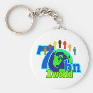 7 Seven Billion World Population Design Keychain
