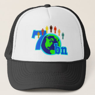7 Seven Billion World Population Design Trucker Hat