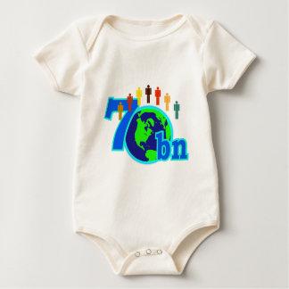 7 Seven Billion World Population Design Rompers