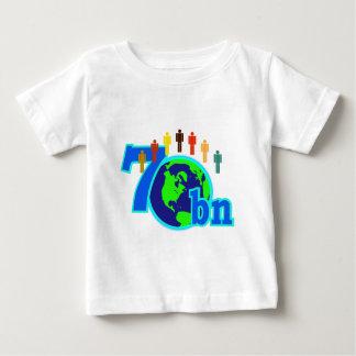 7 Seven Billion World Population Design Tee Shirt