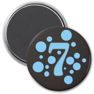 7-Seven Imán Redondo 7 Cm