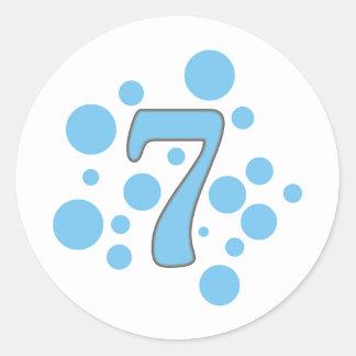 7-Seven Pegatina Redonda
