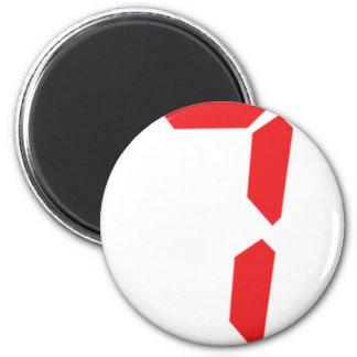 7 seven  red alarm clock digital number magnet