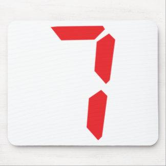 7 seven  red alarm clock digital number mouse pad