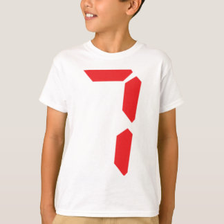 7 seven  red alarm clock digital number T-Shirt