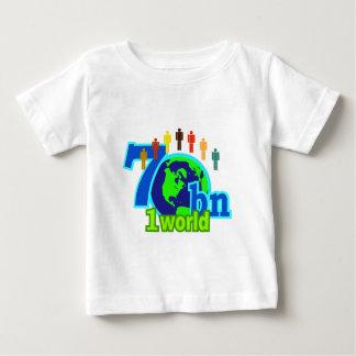 7 siete mil millones diseños de la población de playera para bebé