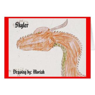 7, Skyler, Drawing by: Moriah Card
