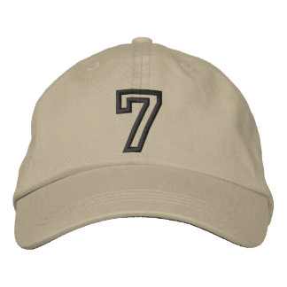"""7"" Small Athletic Number Cap"
