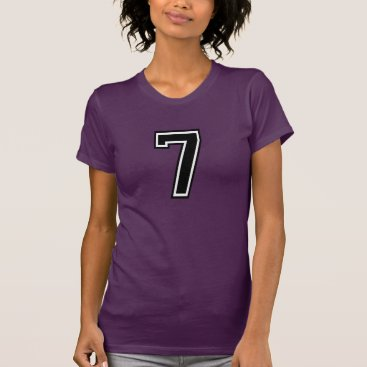 7 Sports Jersey Number T-Shirt