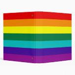 7 Stripes Rainbow Gay Pride Flag Avery Binder