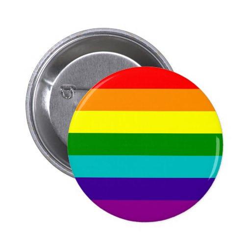 7 Stripes Rainbow Gay Pride Flag Button