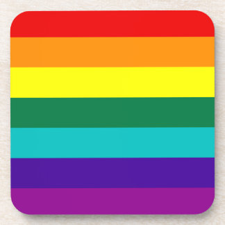 7 Stripes Rainbow Gay Pride Flag Cork Coaster