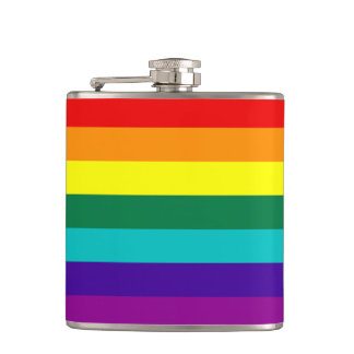 7 Stripes Rainbow Gay Pride Flag Flask