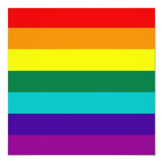 7 Stripes Rainbow Gay Pride Flag Invitation