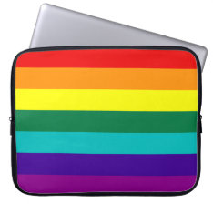 7 Stripes Rainbow Gay Pride Flag Laptop Sleeve at Zazzle