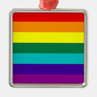 7 Stripes Rainbow Gay Pride Flag Ornament