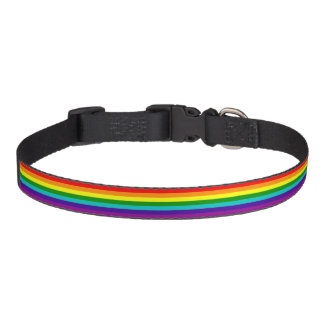 7 Stripes Rainbow Gay Pride Flag Pet Collar