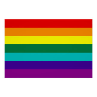 7 Stripes Rainbow Gay Pride Flag Poster