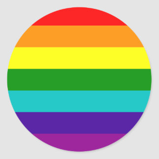 7 Stripes Rainbow Gay Pride Flag Sticker