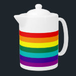 "7 Stripes Rainbow Gay Pride Flag Teapot<br><div class=""desc"">7 Stripes Rainbow Gay Pride Flag Teapot 