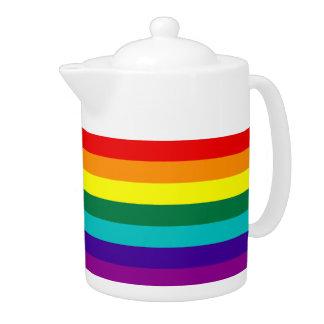 7 Stripes Rainbow Gay Pride Flag Teapot