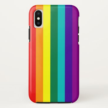 7 Stripes Rainbow Pride iPhone X Case