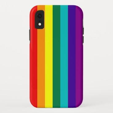 7 Stripes Rainbow Pride iPhone XR Case