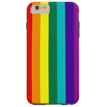 7 Stripes Rainbow Pride Tough iPhone 6 Plus Case