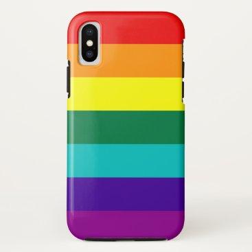 7 Stripes Rainbow Pride iPhone XS Case