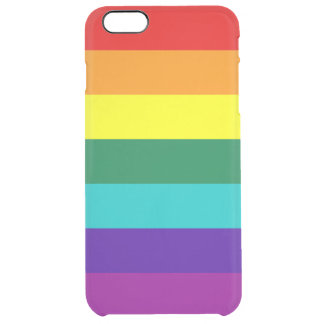 7 Stripes Rainbow Pride Flag Clear iPhone 6 Plus Case