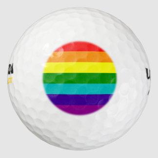 7 Stripes Rainbow Pride Flag Golf Balls