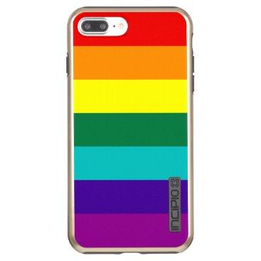7 Stripes Rainbow Pride Flag Incipio DualPro Shine iPhone 8 Plus/7 Plus Case