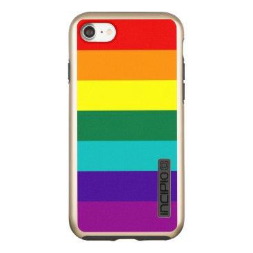 7 Stripes Rainbow Pride Flag Incipio DualPro Shine iPhone 8/7 Case