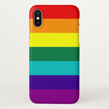 7 Stripes Rainbow Pride Flag iPhone X Case
