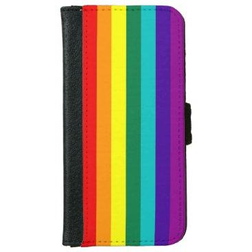 7 Stripes Rainbow Pride Flag iPhone 6/6s Wallet Case