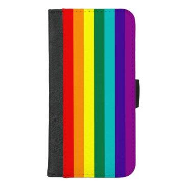 7 Stripes Rainbow Pride Flag iPhone 8/7 Plus Wallet Case