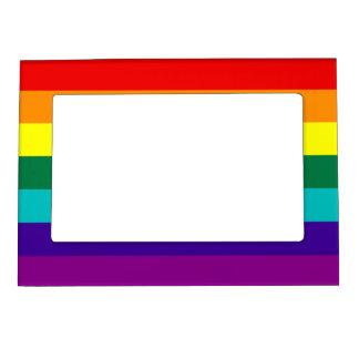 7 Stripes Rainbow Pride Flag Magnetic Photo Frame