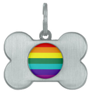7 Stripes Rainbow Pride Flag Pet Tag