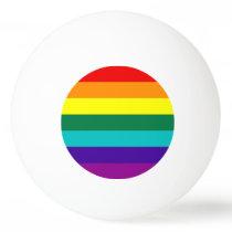 7 Stripes Rainbow Pride Flag Ping Pong Ball