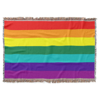 7 Stripes Rainbow Pride Flag Throw Blanket