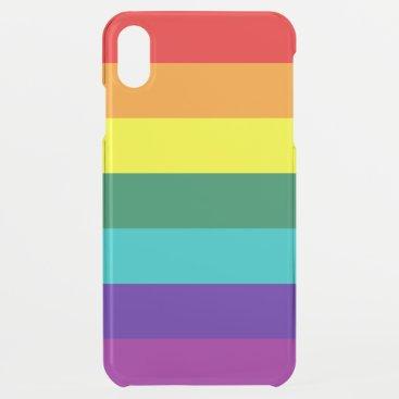 7 Stripes Rainbow Pride Flag iPhone XS Max Case