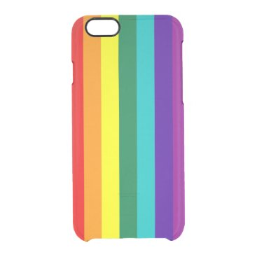 7 Stripes Rainbow Pride Flag Clear iPhone 6/6S Case