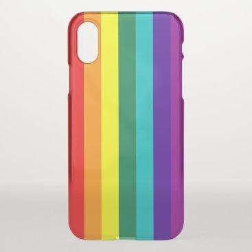 7 Stripes Rainbow Pride Flag iPhone XS Case
