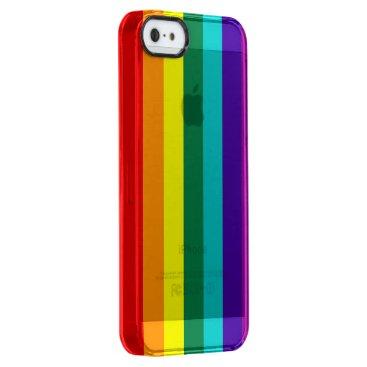 7 Stripes Rainbow Pride Flag Clear iPhone SE/5/5s Case