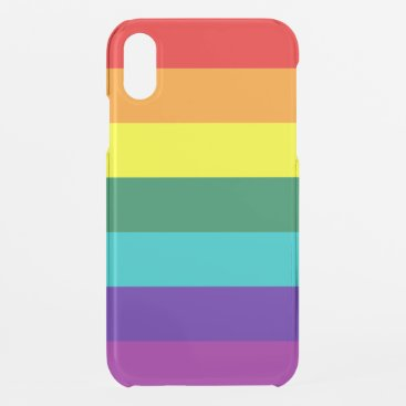7 Stripes Rainbow Pride Flag iPhone XR Case