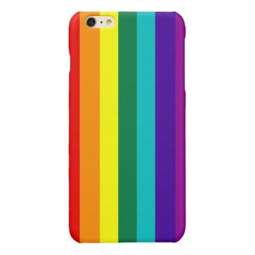 7 Stripes Rainbow Pride Glossy iPhone 6 Plus Case