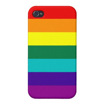 7 Stripes Rainbow Pride Case For iPhone 4