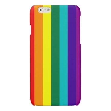 7 Stripes Rainbow Pride Glossy iPhone 6 Case
