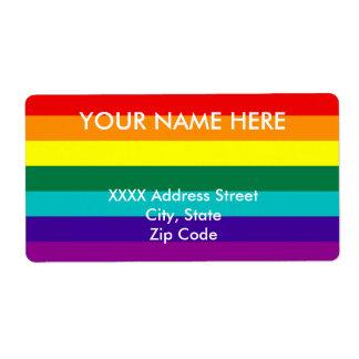 7 Stripes Rainbow Pride Label