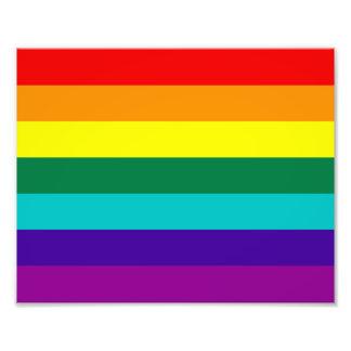 7 Stripes Rainbow Pride Photograph